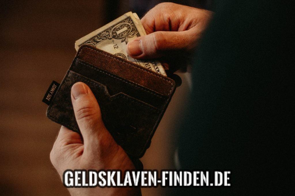verschenke Geld